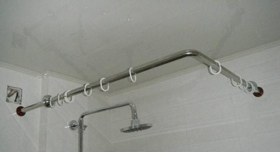 不锈钢浴帘杆安装后如何保养,家庭卫生间里的淋浴帘不锈钢架介绍