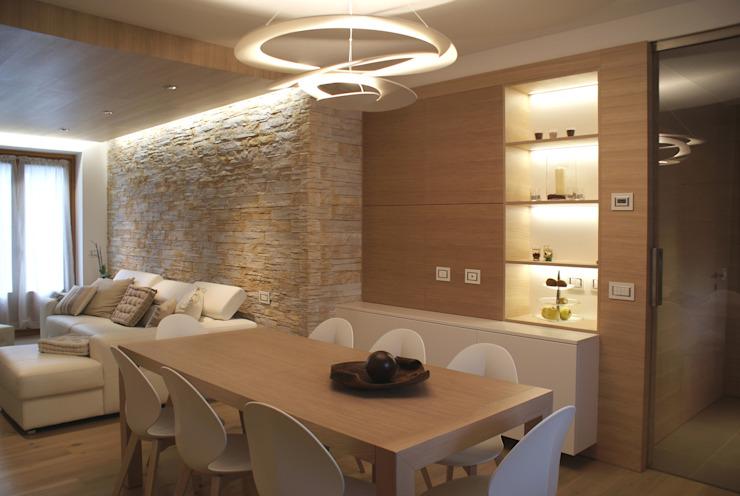 现代厨房与餐厅空间和客厅的结合,中性配色方案的装修灵感