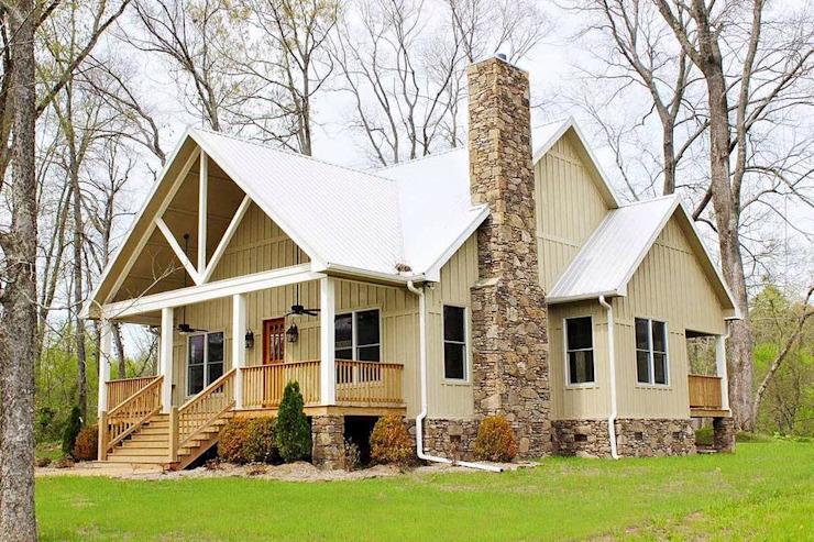 美丽的乡村风格住宅,在温暖的环境中提供了当代的舒适