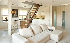 一个舒适的房子内部你会爱上它的米色魅力