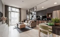 舒适的公寓闪耀着中性色调&一种自然的风格