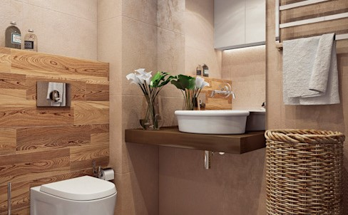 15个小而时尚的浴室,它们都很实用