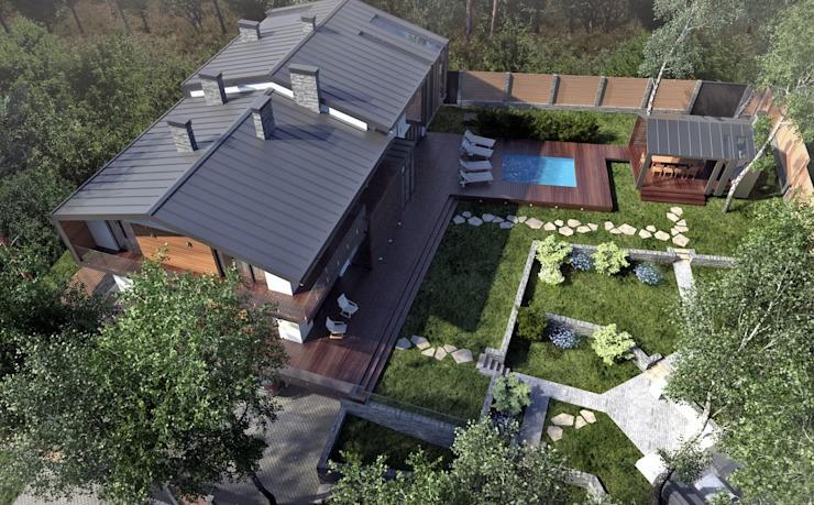 令人惊叹的极简主义湖边的家,拥有露台阳台游泳池的花园别墅