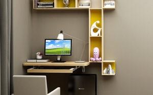 墙角电脑桌和书架的安装方法