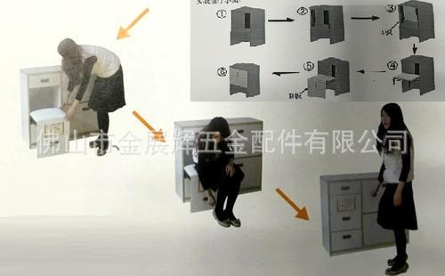 衣柜铰链式鞋柜的安装方法